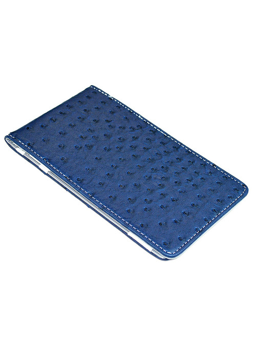 On Par Scorecard Holder Ostrich Print Navy/Grey