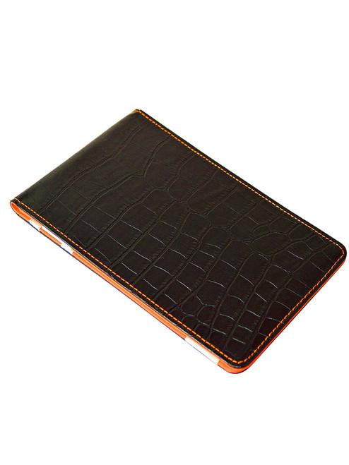 OnPar Scorecard Holder Croc Print Black/Orange