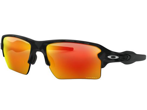 Oakley Flak 2.0 XL Sunglasses - Black Camo w/ Prizm Ruby
