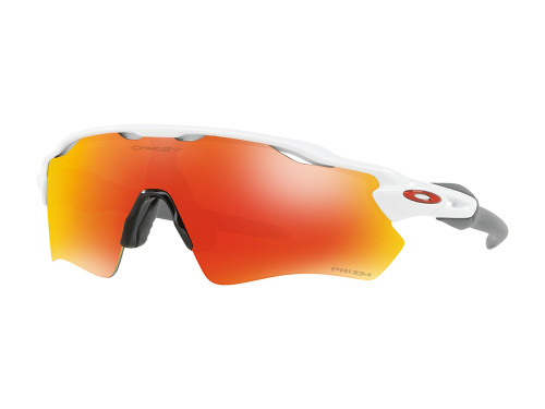 Oakley Radar EV Path Sunglasses - White w/ Prizm Ruby