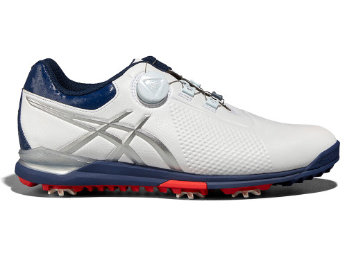 Asics Gel Ace Tour 3 BOA Golf Shoes - White/Silver/Blue