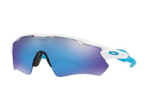 Oakley Radar EV Path Sunglasses - White w/ Prizm Sapphire