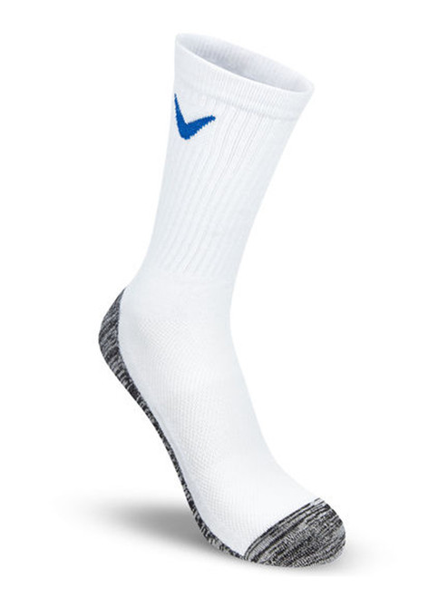 Callaway Tour Cotton Crew Socks - White