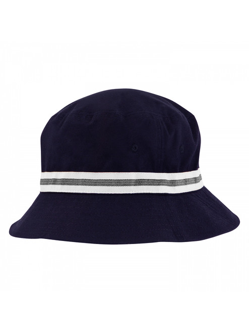 Sporte Leisure Stripe Band Bucket Hat - French Navy/White