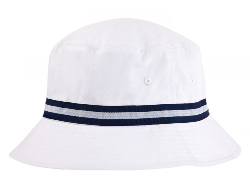 Sporte Leisure Stripe Band Bucket Hat - White/French Navy