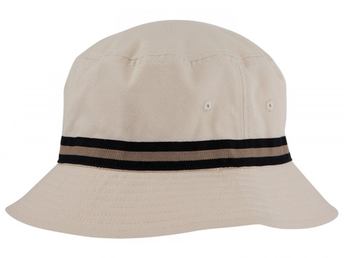 Sporte Leisure Stripe Band Bucket Hat - Stone/Black
