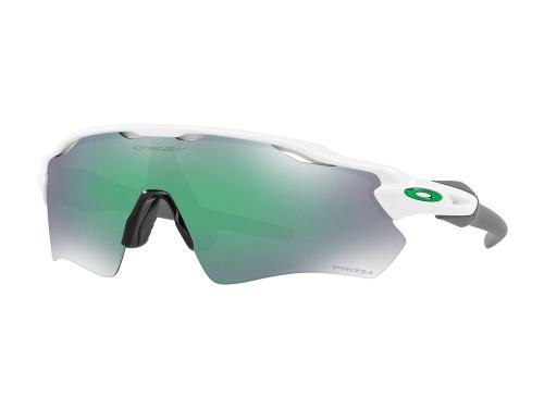 Oakley Radar EV Path Sunglasses - White w/ Prizm Jade