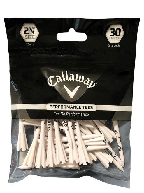 Callaway Performance Fly Tees 30 Pack 2.75 Inch White