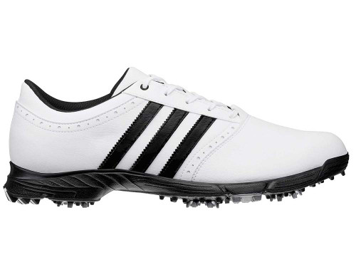 Adidas Traxion Classic Golf Shoes - White/Black