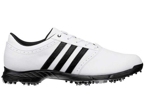 Adidas Traxion Classic Golf Shoes - White/Black