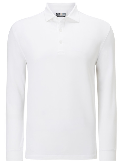 Callaway Essentials Long Sleeve Polo - Bright White