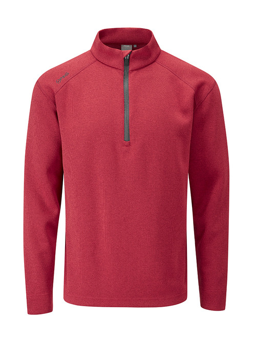 Ping Kelvin Fitted Half Zip - Rich Red Marl