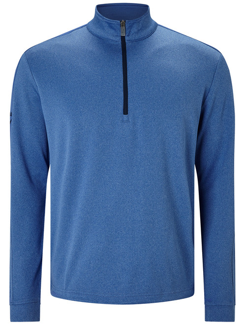 Callaway Stretch Waffle Pullover - Bright Cobalt Heather