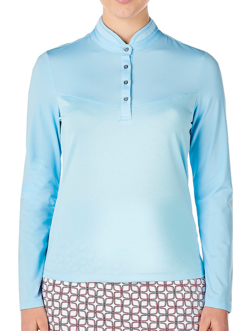 Nivo Ladies Calista Long Sleeve Mock - Ice Blue