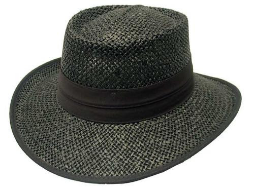 Avenel Openweave Downunder Panama Hat - Black