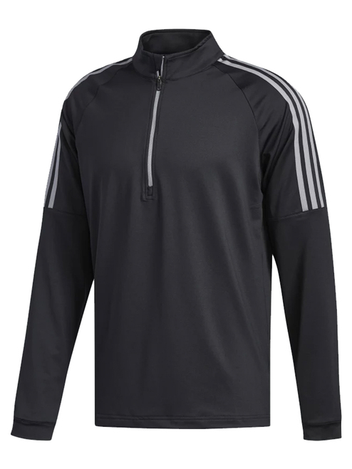 Adidas 3-Stripes 1/4 Zip - Black