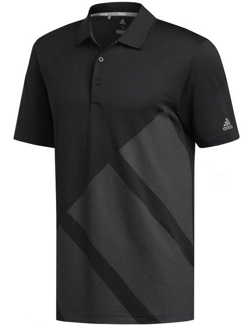 Adidas Bold 3-Stripes Polo - Black/Grey Three F17