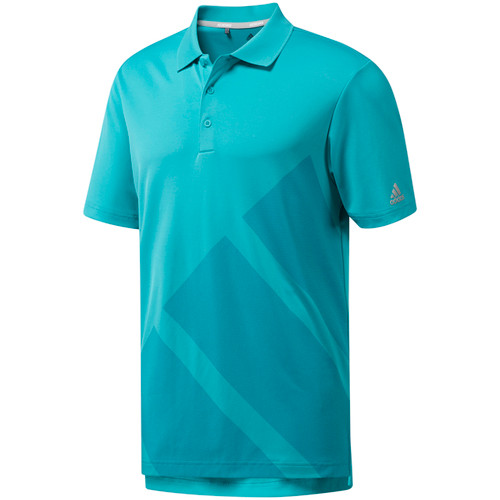 Adidas Bold 3-Stripes Polo - Hi-Res Aqua