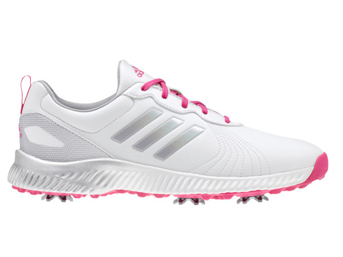 Adidas Ladies Response Bounce Golf Shoes - White/Magenta F18