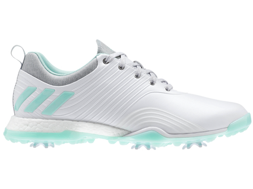Adidas W Adipower 4orged Golf Shoes - FTWR White/Clear Mint