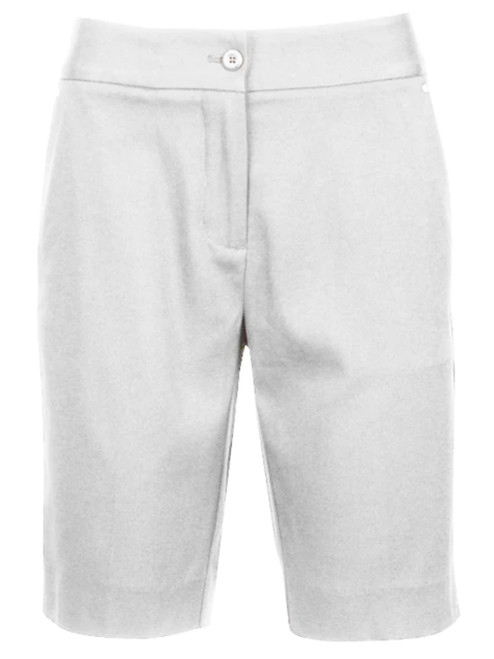 Greg Norman Ladies Easy Play Stretch Short - White