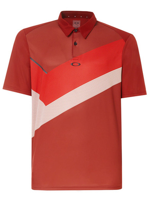 Oakley Placed Collar Block Polo - Iron Red