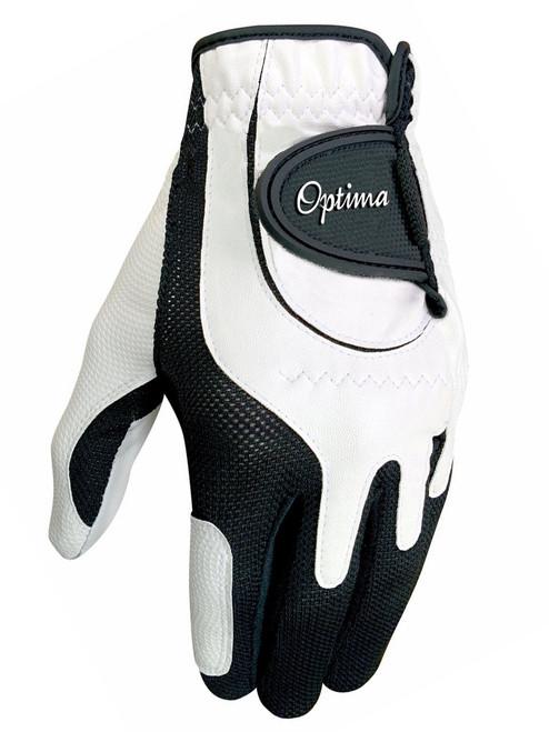 Optima Future Star Junior Golf Glove - White/Black