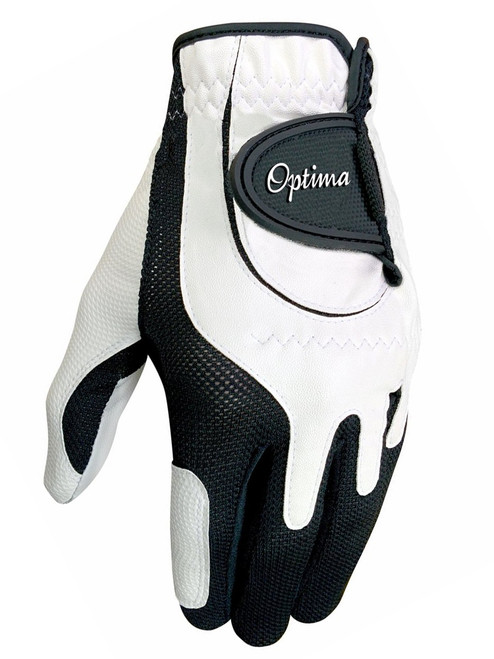 Optima Future Star Junior Golf Glove - White/Black