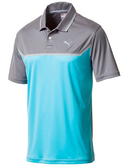 Puma Bonded Tech Polo - Blue Atoll/Quiet Shade
