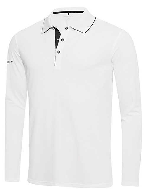Galvin Green Marc Long Sleeve Polo - White/Black