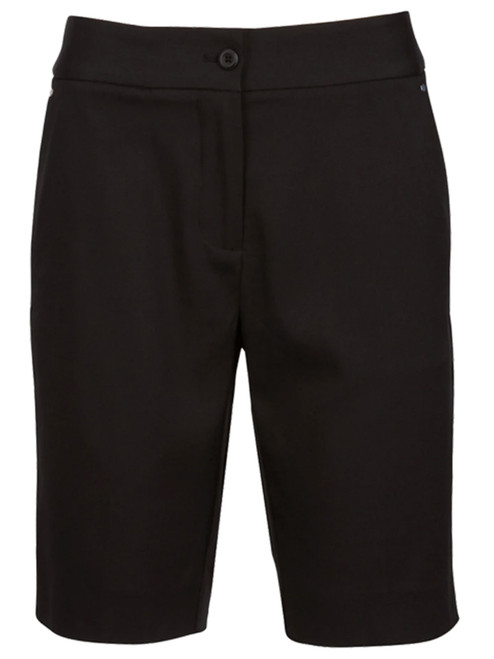 Greg Norman Ladies Easy Play Stretch Short - Black