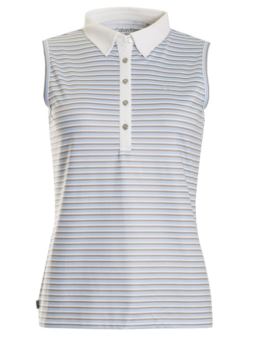 Calvin Klein Ladies Marina Polo - Sail/Natural