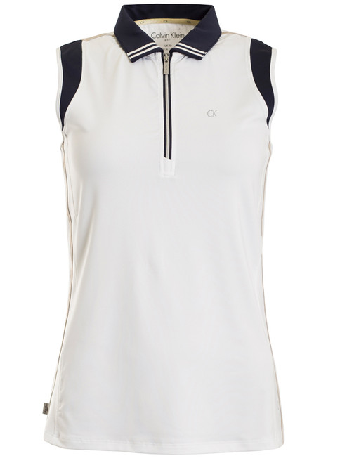Calvin Klein Ladies Haven Polo - White/Night Blue