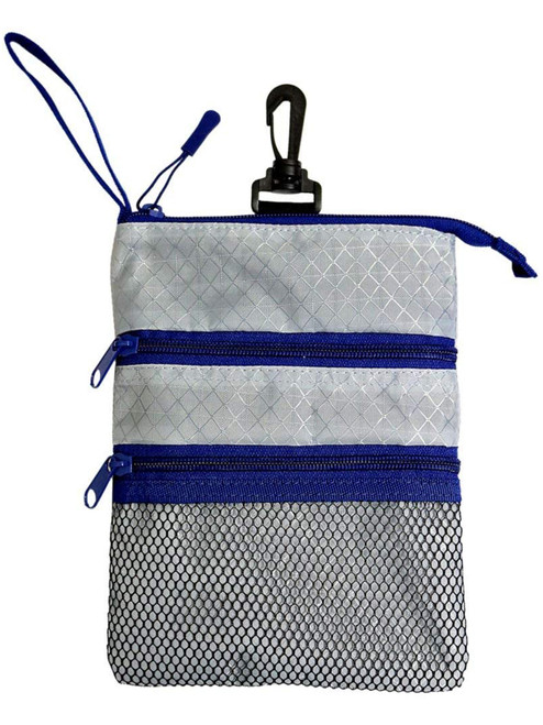 Proactive Zippered Caddy Pouch Grey Navy