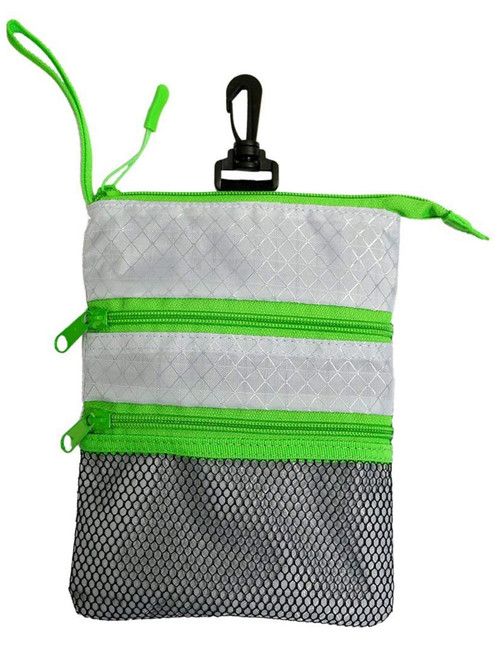 Proactive Zippered Caddy Pouch Grey Green