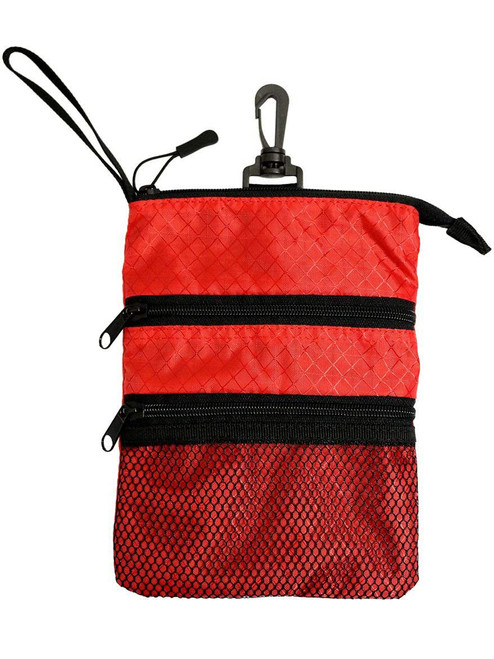 Proactive Zippered Caddy Pouch Red Black