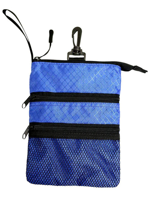 Proactive Zippered Caddy Pouch Blue Black