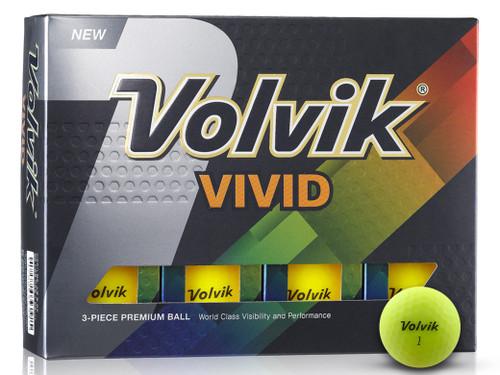 Volvik Vivid Golf Balls - 1 Dozen Yellow