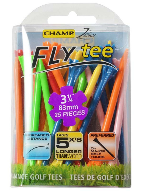 CHAMP Neon Fly Tees 25 Pack 3.25 Inch