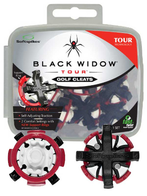 SoftSpikes Black Widow Tour Golf Cleats Fast Twist