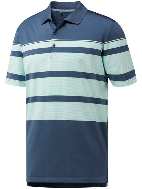 Adidas Ultimate Wraparound Polo - Tech Ink/Clear Mint/White
