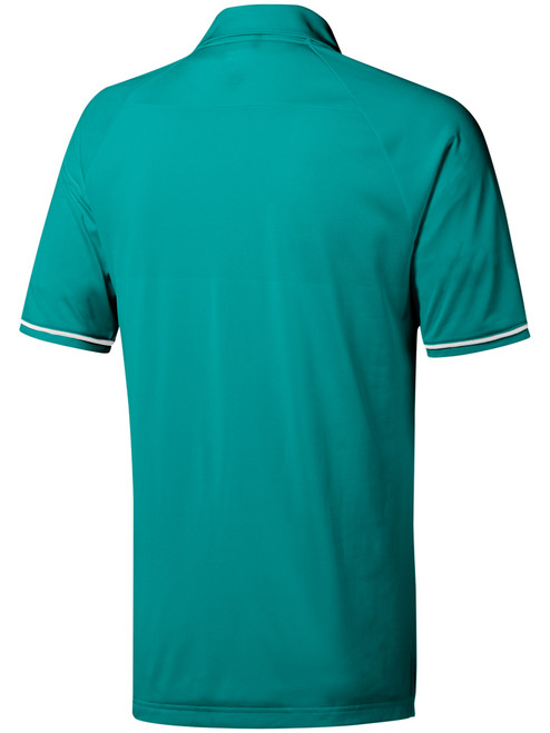 Adidas Climacool Athletic Raglan Polo - White/Hi-res Aqua