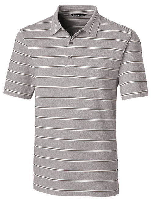 Cutter & Buck DryTec Forge Heather Stripe Polo - Polished