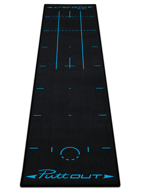 PuttOUT Pro Golf Putting Mat Black