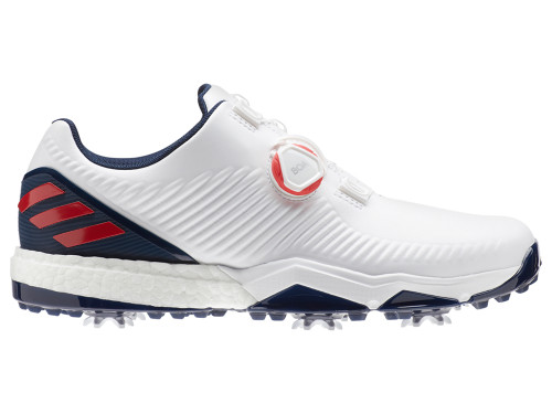 Adidas Adipower 4orged BOA Golf Shoes - FTWR White/Coll Navy