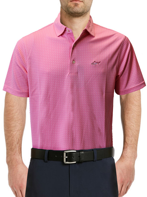 Greg Norman Textured Polo - Rose Paint
