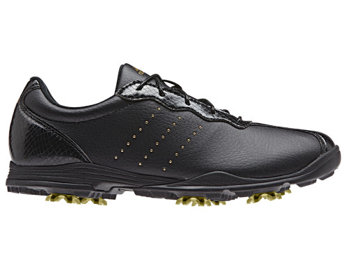 Adidas W Adipure DC Golf Shoes - Core Black/Gold Met.