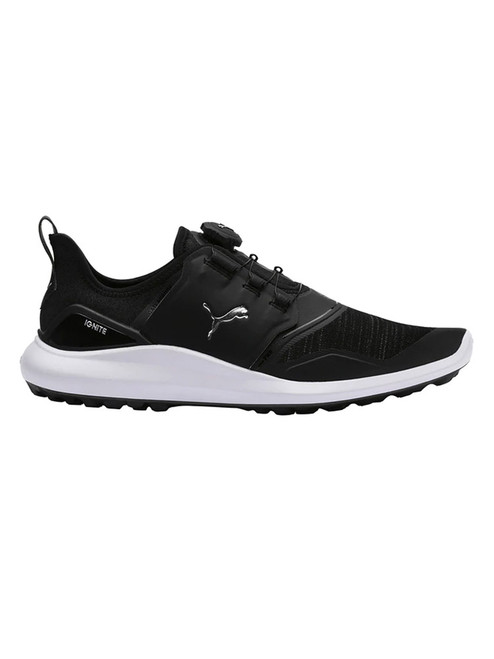 Puma Ignite NXT Disc Golf Shoes - Puma Black/Silver/White