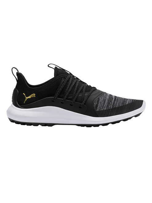 Puma Ignite NXT Solelace Golf Shoes - Black/Team Gold