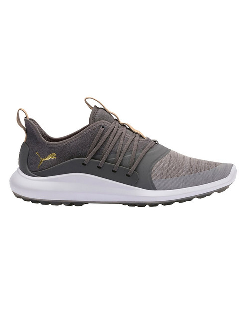 Puma Ignite NXT Solelace Golf Shoes - Grey Violet/Team Gold
